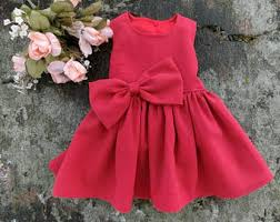 red baby dress etsy