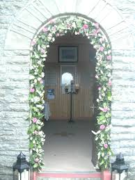 wedding arches ireland wedding flowersat the of the sea church quilty county clare