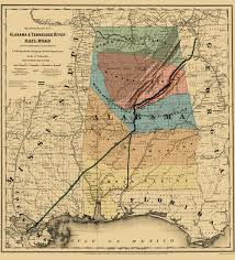 Topographical Map Of Tennessee by Old Railroad Map Alabama And Tennessee River 1865