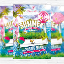 the summer weekend travel u2013 premium flyer template facebook