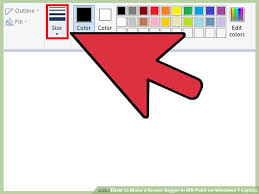 how to make a eraser bigger in ms paint on windows 7 laptop