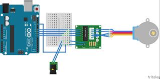 arduino import alternative stepper motor in my fritzing sketch