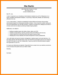 Cover Letter For An Administrative Assistant Events Assistant Cover Letter