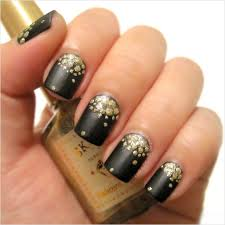 nail art stirring blacknd gold nailrt image design redrtblack