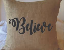 believe pillow etsy