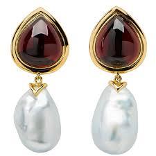 garnet earrings antique garnet earrings 203 for sale at 1stdibs