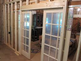 Narrow House Designs by Unfinished Custom French Sliding Doors With Frosted Glass Insert
