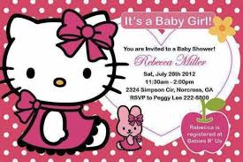 kitty baby shower invitations decorations templates