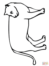 mountain lion looks back coloring page free printable coloring pages