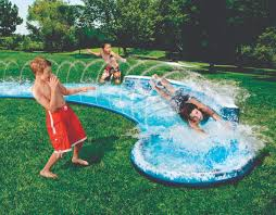 awesome backyard water slide outdoor furniture design and ideas