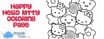 happy hello kitty coloring page u2014 printable treats com