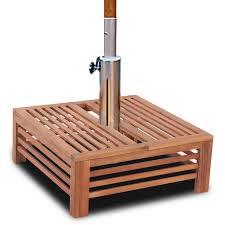 umbrella stand table base square acacia hardwood parasol base table outdoor umbrella stand