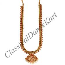 long chain necklace designs images Long chain haaram with pendent mango design imitation jpg