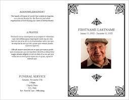 printable funeral program templates funeral brochure templates free free printable funeral program