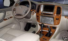 Toyota Land Cruiser Interior Toyota Land Cruiser Interior Wood Dash Trim Kit Set 2003 03 2004