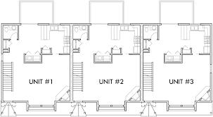 triplex 3 bedroom 2 car garage side to side sloping lot
