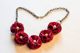 bib necklace flower images Fabric flower bib necklace tutorial johwey redington jpg