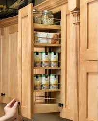 in cabinet spice rack slide farmhouse kitchens traditional wall