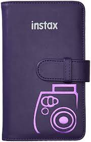 wallet photo album fujifilm instax wallet album 108 grape photo