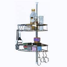 etagere telescopique cuisine étagère de cuisine télescopique inox 2 paniers 6 crochets achat