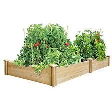 raised garden beds for sale amazon com greenes 4 ft x 8 ft x 10 5 in cedar raised garden