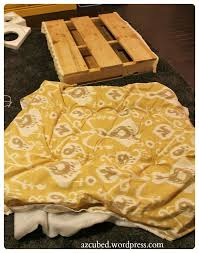 Made Ottoman by Diy Tufted Ikat Ottoman From Upcycled Pallet With Tutorial