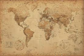 vintage map for the home pinterest maps world maps and