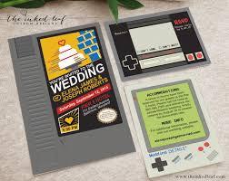 mario invitations geek wedding invitations nintendo nes cartridge mario