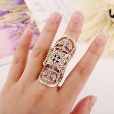 cross rings images New exquisite cute retro cz diamond cross rings hollow carved jpg