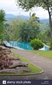 victoria range holiday bungalow kandy sri lanka stock photo