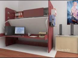 Desk Transforms Into Bed Hiddenbed Space Saving Bed Desk System Youtube