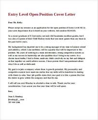sample entry level cover letter 8 examples in word pdf