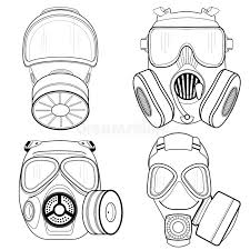 gas mask isolated on white background vector illustration stock