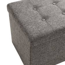 seville classics foldable storage bench ottoman charcoal gray seville classics foldable storage bench ottoman charcoal gray