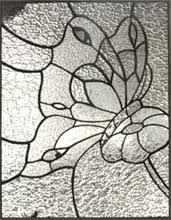 Flower Glass Design Stained Glass Butterfly On Flower Stained Glass 1 Pinterest