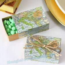 Map Favors by Wedding Gift Ideas Delivery Lading For