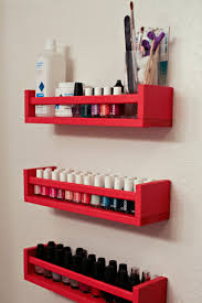 diy nail polish rack i like it because you can fit the polish as