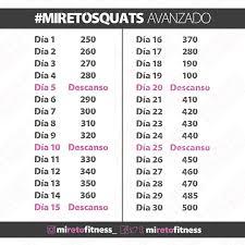 Challenge Reto Miretosquats Squats Challenge Reto De Sentadillas De 30 Días
