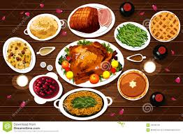 vegetarian thanksgiving meals food of thanksgiving dinner stock vector image 59736749
