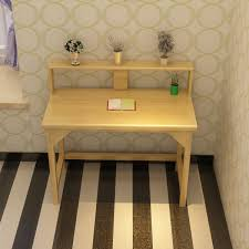Small Solid Wood Desk Children Study Table Solid Wood Desk Bookcase Combination Children