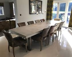 3 Metre Dining Table 3 4 Metre Extendable Polished Concrete Dining Table