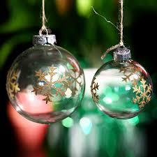 ornament glass gold thin snowflake tree