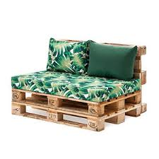 palm green back fibre printed pallet cushions hollowfibre garden