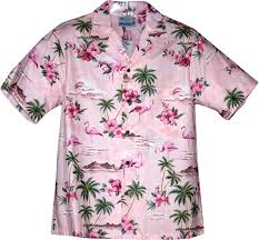 flamingos pink hawaiian shirt