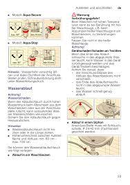 modell aqua secure modell aqua stop hinweis bosch wae24345