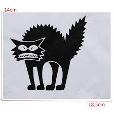 halloween glass halloween scary spooky black cat wall glass sticker halloween
