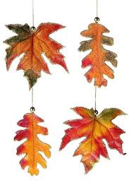 satin fall leaf ornament the patch