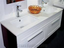 Commercial Bathroom Sinks And Countertop Zero Water Absorption Nano Crystallized Glass Stone For Commercial