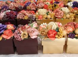 fall flower garden favor box