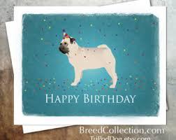 printable pug card etsy